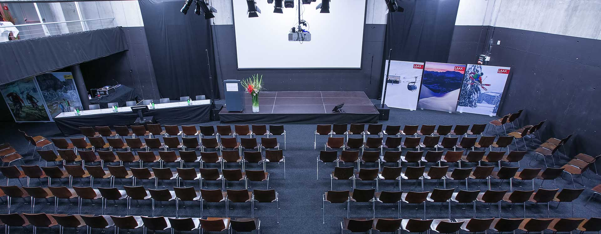 Eventhalle, Workshop, Tagungsraum und Kongressraum in Flims.